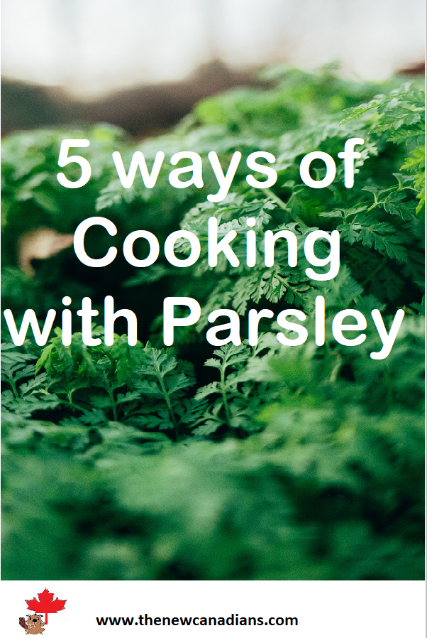 use the stems and leaves of parsley for cooking