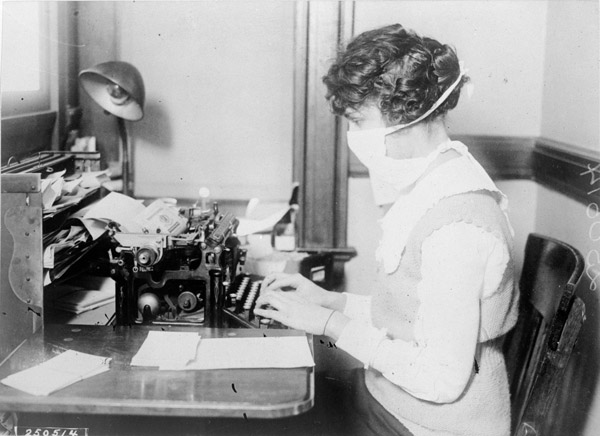 face masks common during spanish flu pandemic
