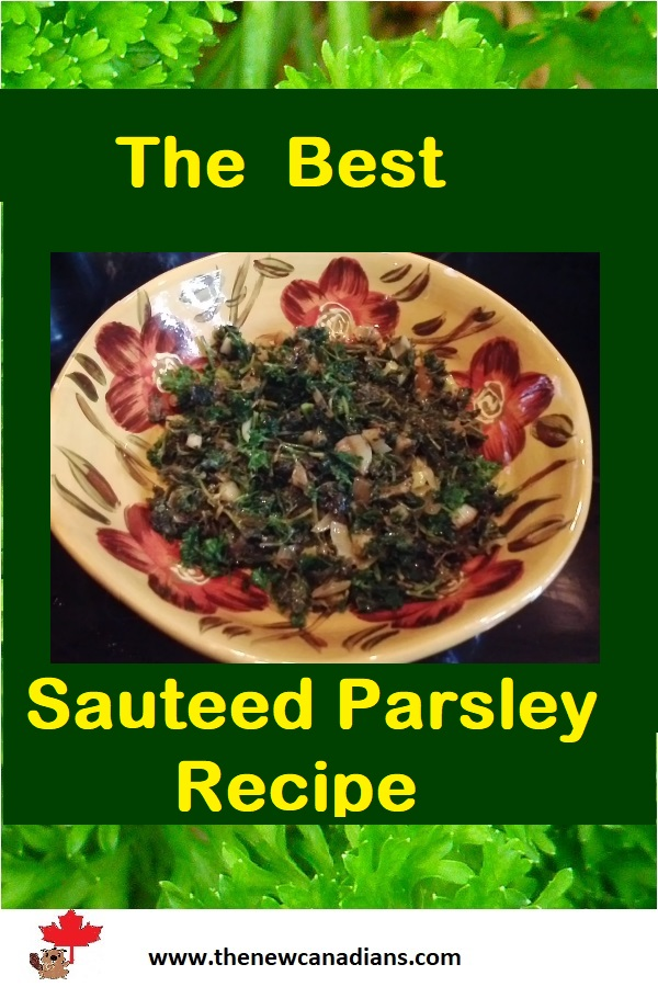 South Indian sauteed parsley recipe